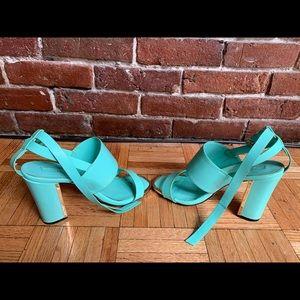 Turquoise TopShop heels